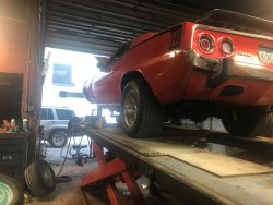 Installing Lower Ball Joints, and Strut Rod Bushings On A 1973 Cuda